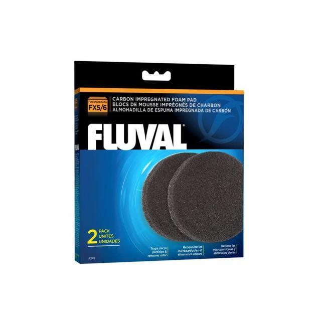 Fluval Lot de 2 mousses charbon Fx5 Fx6 - Pour aquarium