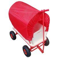 Varanmotors - Chariot Wagon pour Enfant, chariot de transport en bois avec bâche, Charge 180Kg Max