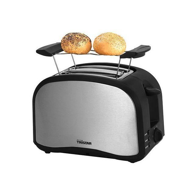 Totalcadeau Grille-Pain double-fente - Toaster petit dejeuner