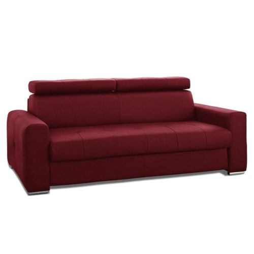 inside 75 canap capitonn forli convertible ouverture rapido 140cm microfibre bordeaux 85cm x. Black Bedroom Furniture Sets. Home Design Ideas