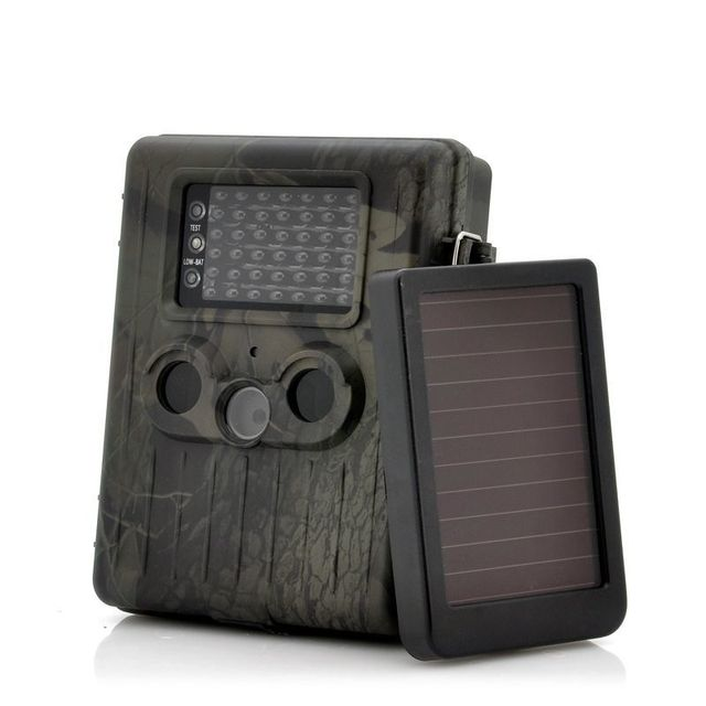 Yonis Caméra de Chasse 3G Mms Full Hd 1080P Led Infrarouge Panneau Solaire
