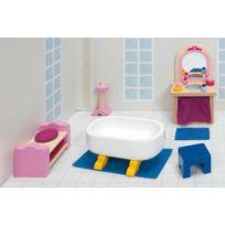 Goki - Maison de Poupées : Mobilier pour Château rose : Salle de bain
