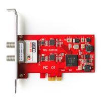 TBS - TBS6281SE Carte PCIe Double Tuner DVB-T DVB-T2 DVB-C pour la réception télévision par TNT et câble en HD - DVB-T2/T/C TV Tuner PCIe Card
