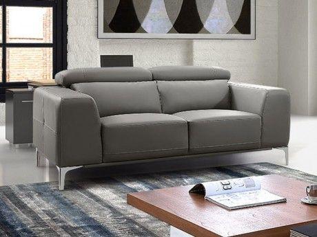 Canapé 2 places en simili WANAKA - Gris