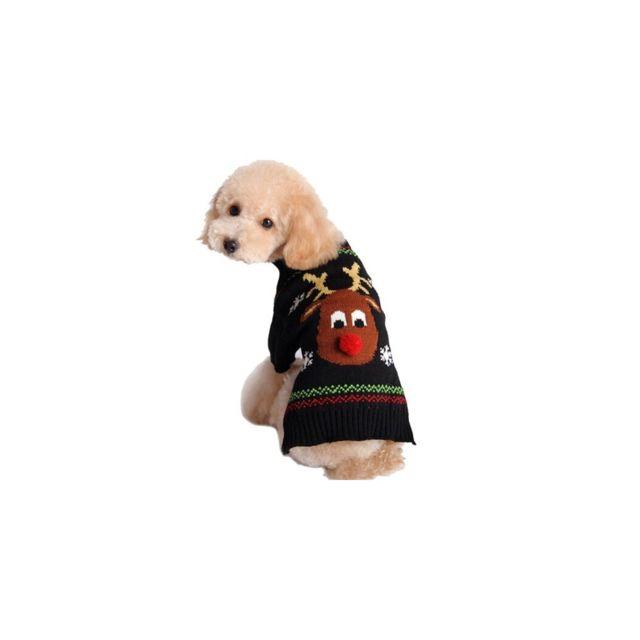 588172ae1ed16 Auto-hightech - Costume Pull Cerf Chiot Vêtements Hiver Nouvel An Noël pour  Chien et