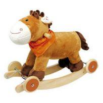 meinLiLaLu & Co. - Adorable cheval peluche à bascule - Bascule / Roulettes / Sons