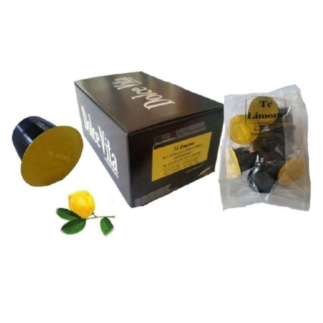DOLCE VITA pack de 50 capsules de thé citron compatible nespresso - capsule n the citron x50