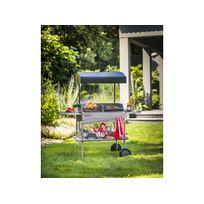Invicta - Barbecue bois Le grilladin de luxe - grille rectangle : 70 x 42 cm