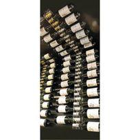 Sobrio - Support en plexiglas transparent pour mur et plafond pour 30 bouteilles - Plexiglas transparent Aci-sbr107