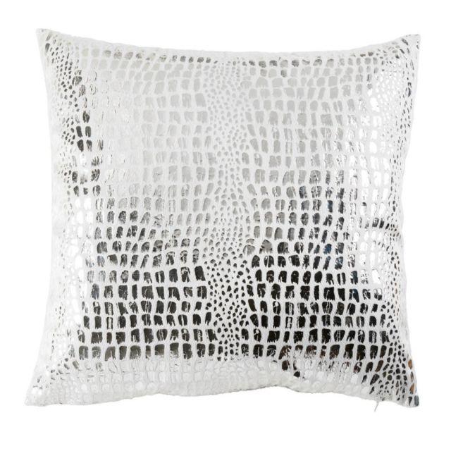 Encart Velours Argent C1061 Polyester Glacier//Argent 40 x 40 cm Douceur dInt/érieur Housse de Coussin