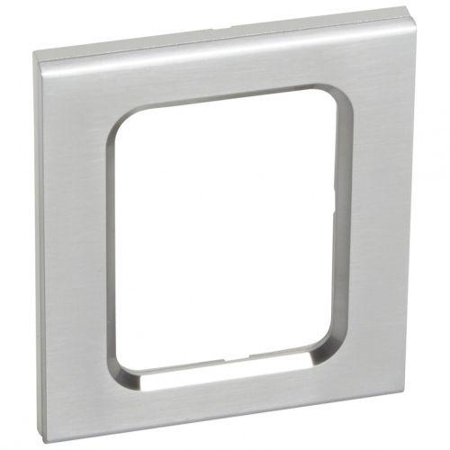 plaque double c liane legrand inox bross brillant vendu par leroy merlin 432860. Black Bedroom Furniture Sets. Home Design Ideas