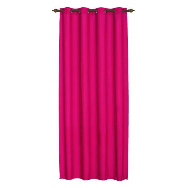nuages paire de doubles rideaux illets beverly fushia 140 x 260 cm pas cher achat vente. Black Bedroom Furniture Sets. Home Design Ideas