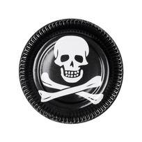 Boland - Assiettes tête de mort pirate x6