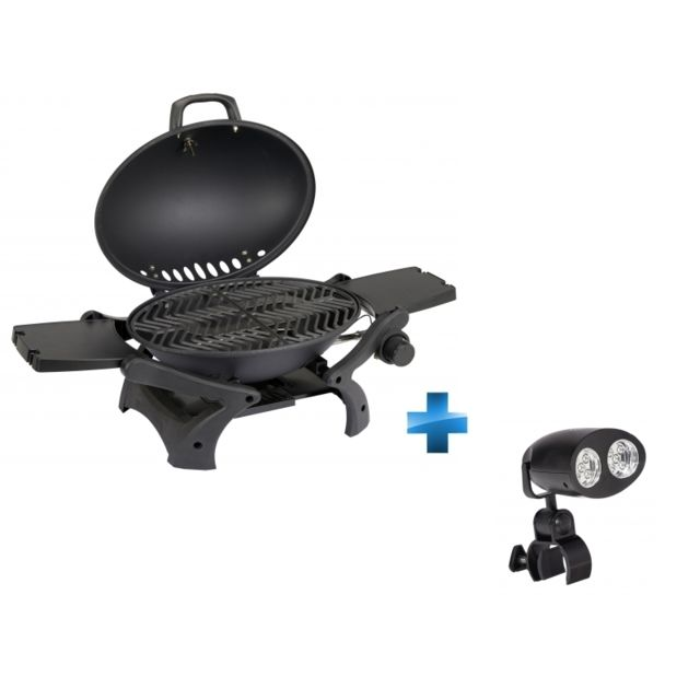 CARREFOUR - Barbecue gaz portable - 94x42 cm + Eclairage d\'appoint ...