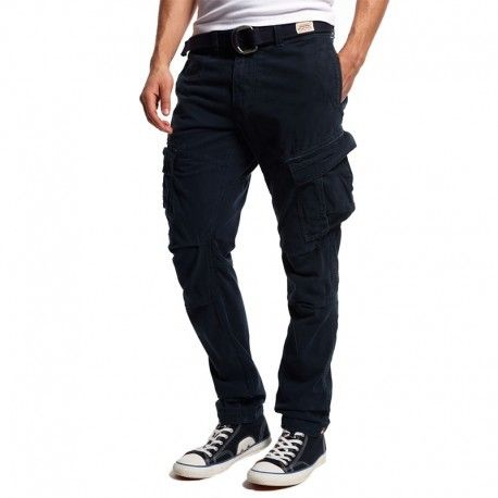 Superdry Homme Bleu Industrial Superdry Chino Core Pantalon Cargo vNynw8m0O