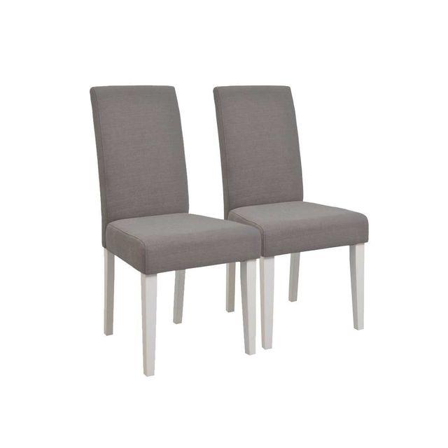 HABITAT ET JARDIN Lot de 2 chaises Marquise - Marron clair