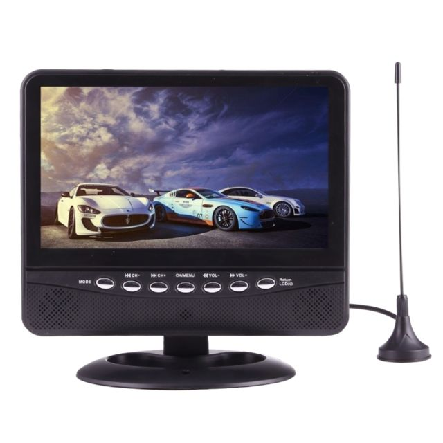 wewoo ecran vid o voiture noir 7 5 pouces moniteur tv portable avec t l commande usb sd mp5. Black Bedroom Furniture Sets. Home Design Ideas