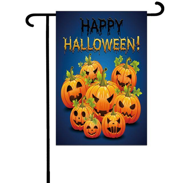 Decoration Halloween Vente.Generique Halloween Bat Pumpkin Witch Garden Banner Decoration De La Maison Banniere 30x45cm Pas Cher Achat Vente Objets Deco Rueducommerce