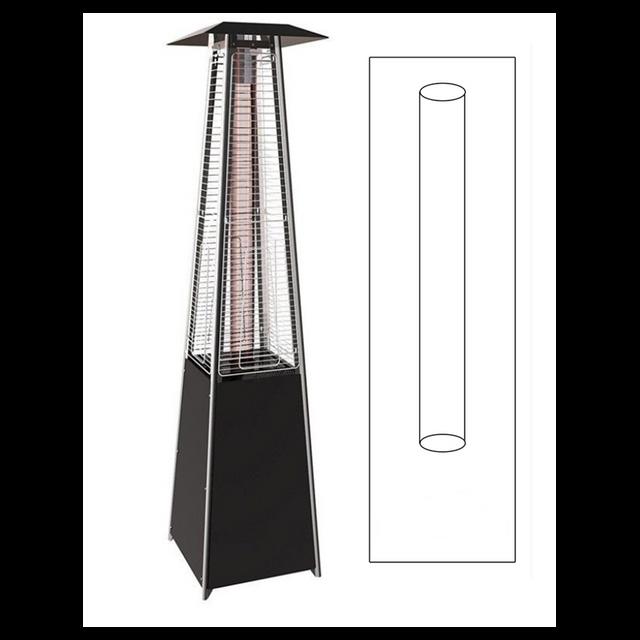 Proweltek Tube en verre de rechange pour parasol chauffant pyramidal Keops Flamme
