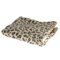 Maison Futée - Couverture plaid polaire 140 x 110 cm - Motif Jaguar