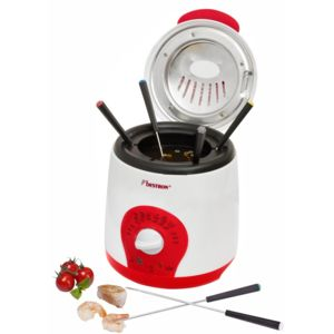 bestron mini friteuse fondue 1l 800w blanc rouge achat friteuse classique. Black Bedroom Furniture Sets. Home Design Ideas