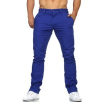 Rerock - Pantalon chino homme Chino Rr54 bleu roi