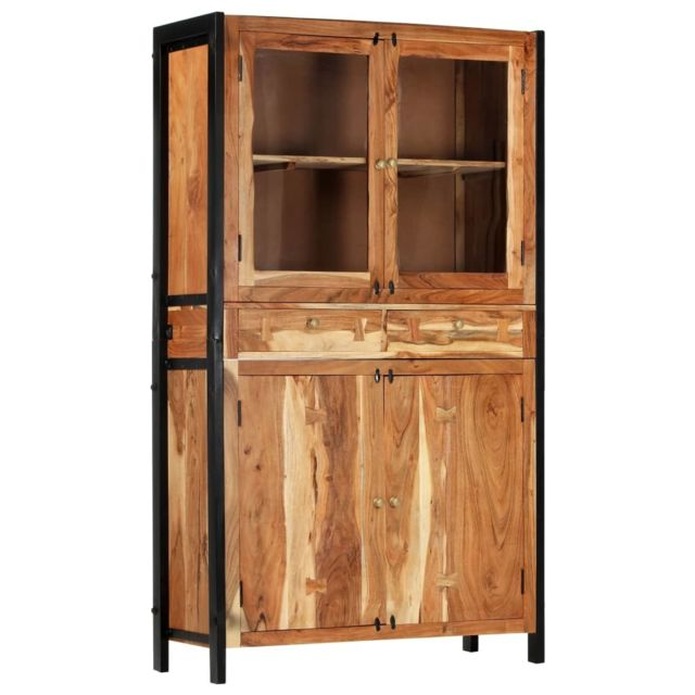 Inedit Armoires & meubles de rangement famille Monrovia Buffet 100 x 40 x 175 cm Bois d'acacia massif