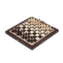 Prime Chess - 3 in 1 - Jeu D'échecs En Bois Backgammon Jeu de dames Set - Medium