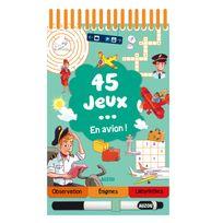Editions Auzou - Livre de jeux : 45 jeux . en avion