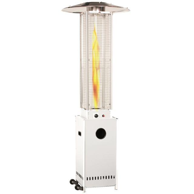 Empasa Parasol Chauffant au Gaz Optical Pro - Vraie flamme - Blanc