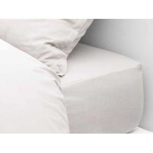 comptoir des toiles drap housse uni bonnet 30cm 100 coton 60 fils easycare agathe blanc. Black Bedroom Furniture Sets. Home Design Ideas