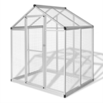 Rocambolesk - Superbe Volière d'extérieur en aluminium 188 x 122 x 194 cm neuf