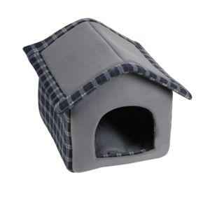 Dogi - Niche d\'intérieur pour chien Ecossais - Taille M - Noir - pas ...