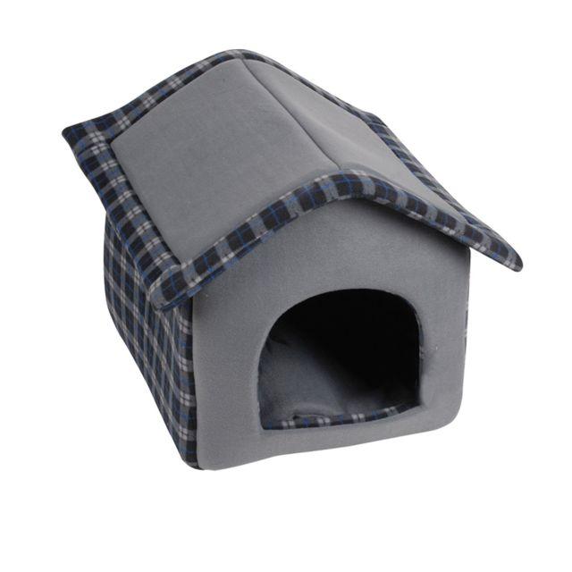 dogi niche dintrieur pour chien ecossais taille m noir