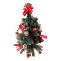 Somoplast - Sapin de Noël artificiel - Avec décoration rouge et doré