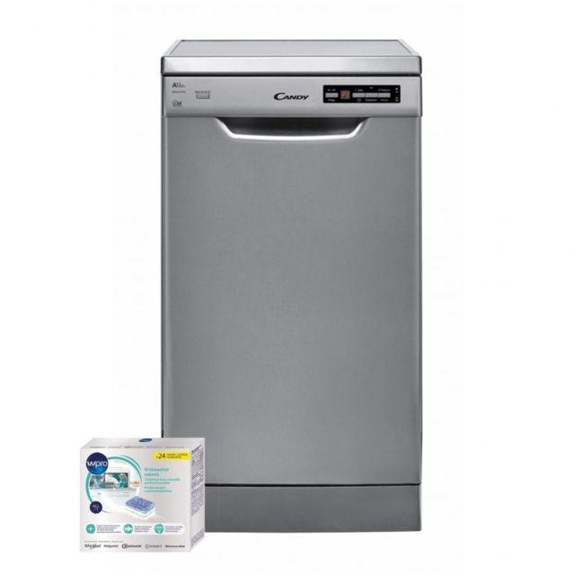 Candy Lave-vaisselle posable inox 47dB A++ 10 couverts 45cm Départ différé