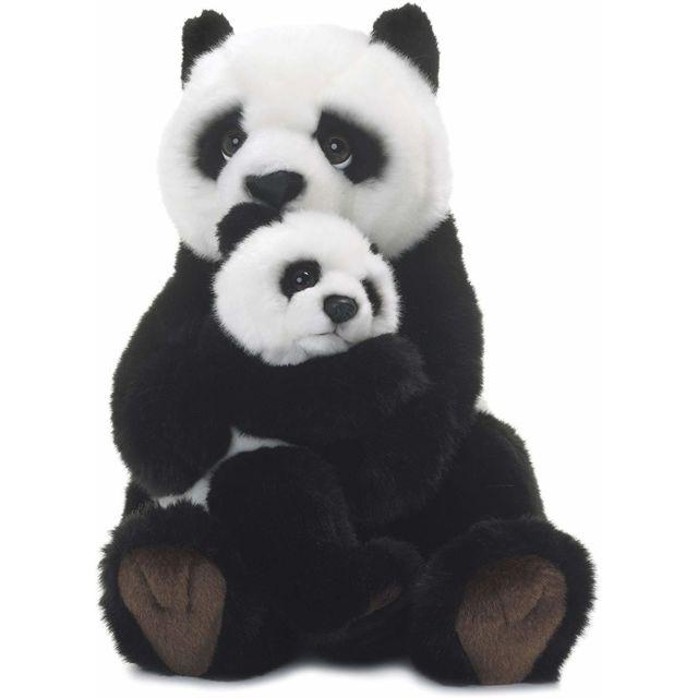 Wwf 15183008 - Peluche - Maman Panda avec Bébé - 28 cm