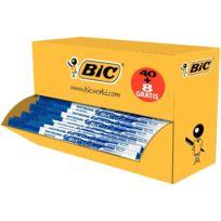 Velleda - pack de 48 feutres effaçables à sec pointe ogive fine 1,5 mm dont 8 gratuits bleu