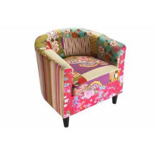 soldes inside 75 fauteuil rio patchwork avec accoudoirs pas cher achat vente fauteuils. Black Bedroom Furniture Sets. Home Design Ideas