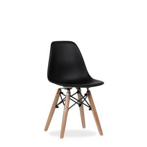 sans marque chaise style scandinave pied bois m tal pour enfant noir pas cher achat. Black Bedroom Furniture Sets. Home Design Ideas