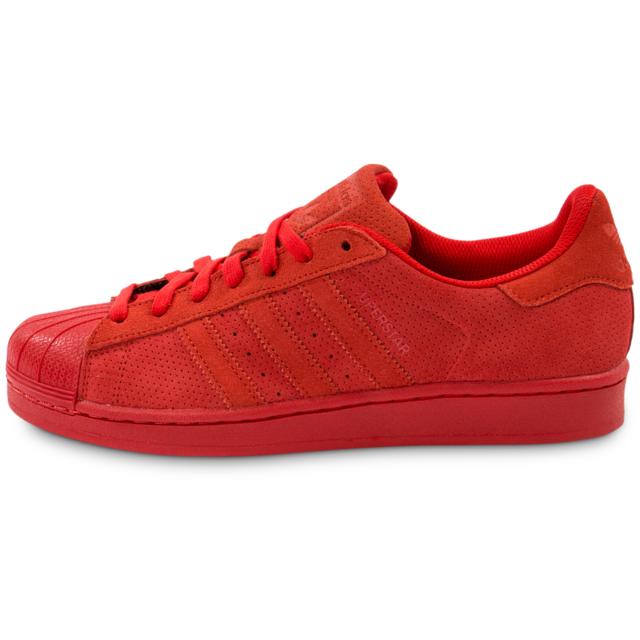 Adidas originals Superstar Suede Rouge Tennis pas cher