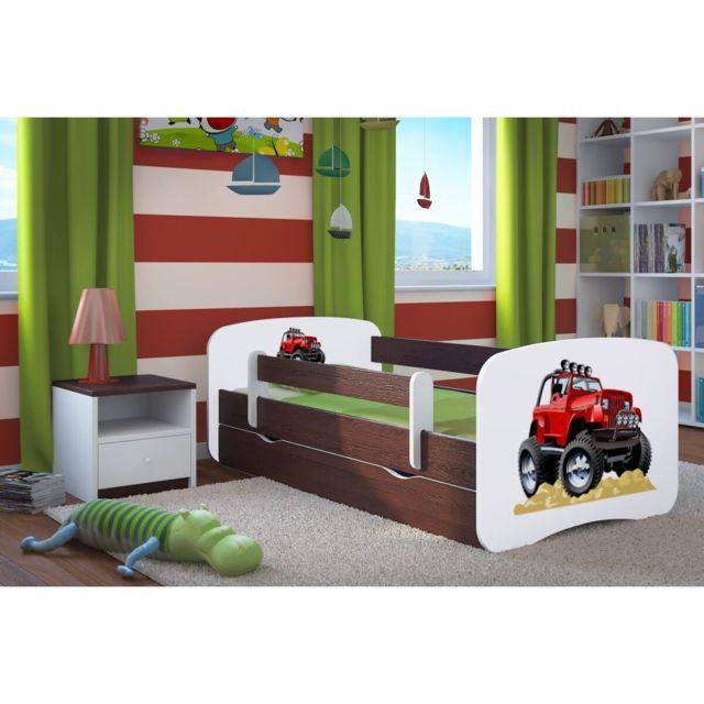 carellia lit enfant roadster 80 cm x 180 cm avec. Black Bedroom Furniture Sets. Home Design Ideas