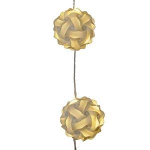 d co maison guirlande lumineuse originale boules origami couleur blanc chaud pas cher. Black Bedroom Furniture Sets. Home Design Ideas