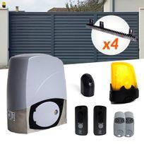 CAME - Motorisation portail coulissant Kit Bx-243- 300Kg 24V - U9618 + 4m crémaillères