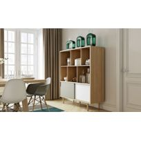 Temahome - Buffet Haut Design Scandinave Tricolore 6 Niches - Dann
