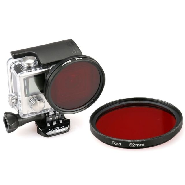 Wewoo - Filtre rouge pour GoPro Hero 4   3+ 52mm rond cercle couleur Uv 9dc585913a41