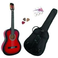 Msa - Pack Guitare Classique 4/4 Adulte, Avec 3 Accessoires rouge