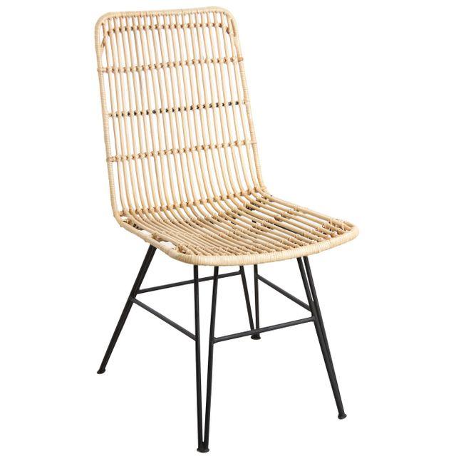 AUBRY GASPARD - Chaise en rotin et métal Maïa Naturel