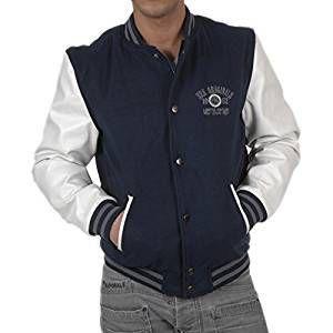 SRK Blouson Teddy bi-matière Homme CORTY- marine