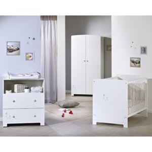 tex baby lit b b little star 60 x 120 cm blanc. Black Bedroom Furniture Sets. Home Design Ideas